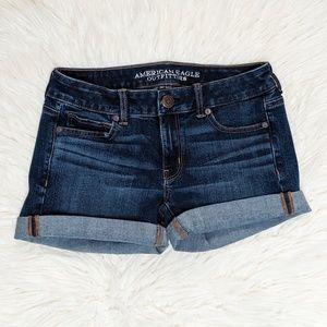 American Eagle Midi Denim Blue Jean Shorts 4